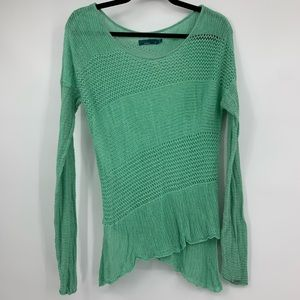 Prana Sweater Womens Small Loose Knit Green